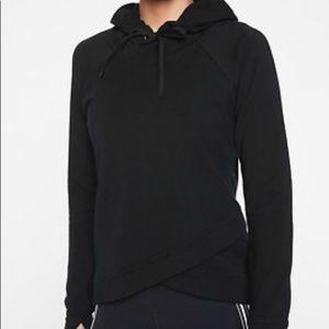 Athleta NWT black boot camp hoodie S